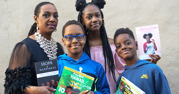 Mother and 3 Children Are All Successful Published Authors