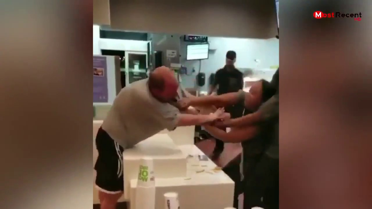 Man arrested for Battery after confrontation with TWO female McDonald's employees.
