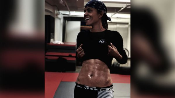 Halle Berry, 53, pulls up her shirt on Instagram: 'Ripped abs…I finally got them'