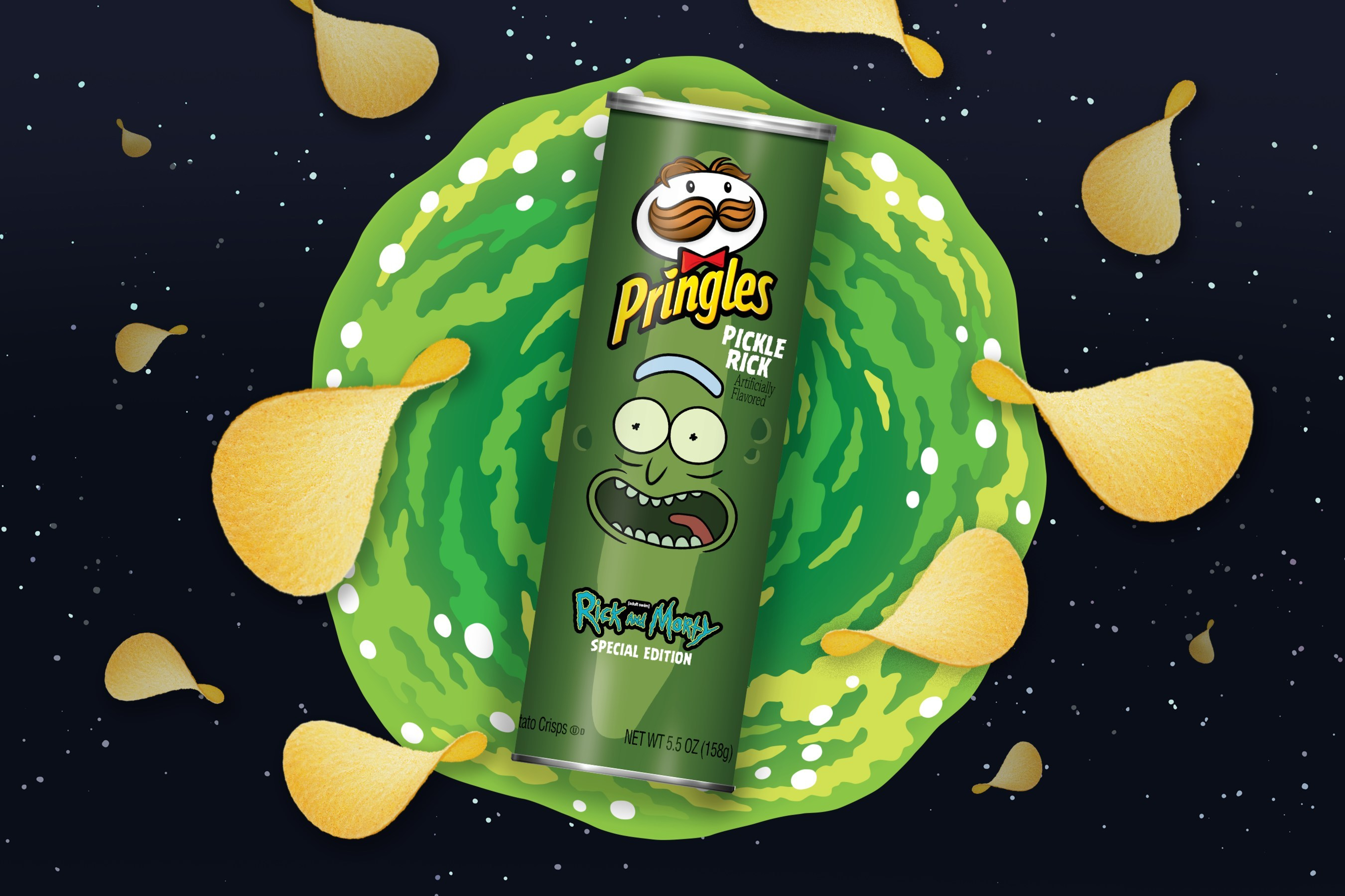 Pringles Is Making A Pickle Rick Flavor